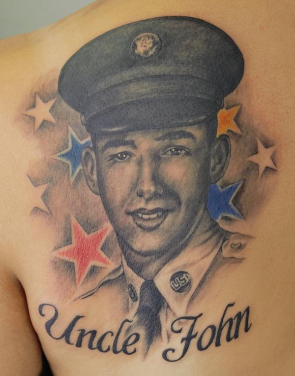 portrait tattoo marine