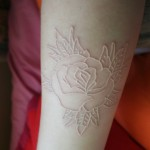 White Ink Tattoo Design