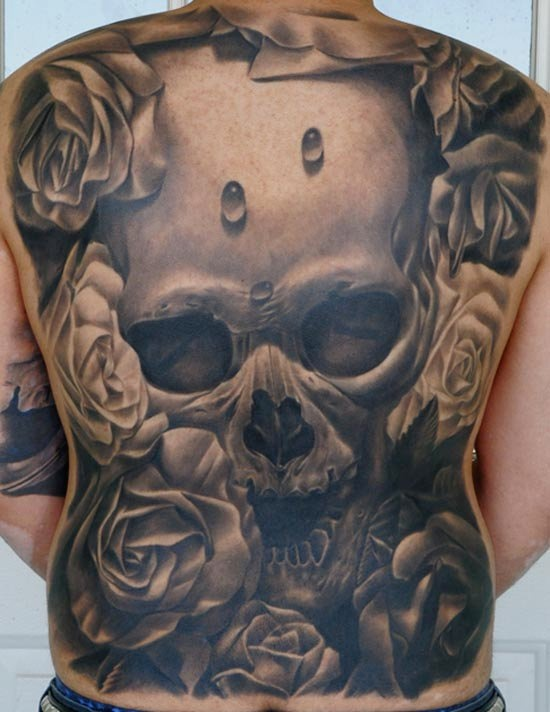 3d full back best skull tattoo design of tattoosdesign of tattoos. Black Bedroom Furniture Sets. Home Design Ideas