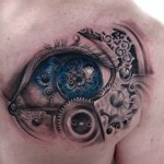 Steampunk Tattoo of an Eye