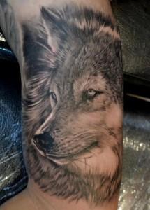 Wolf Tattoo in 3D
