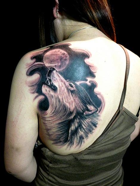Full Moon Wolf Tattoo ...