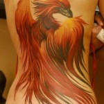 Great Phoenix Tattoo on Back